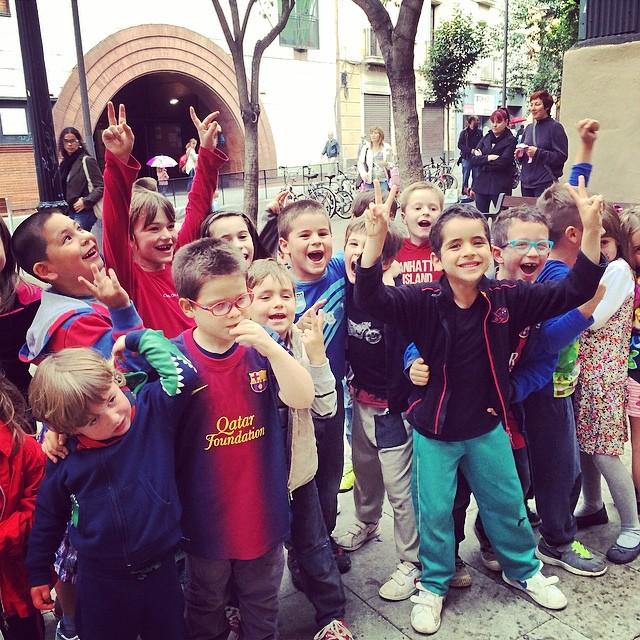 fiesta de cumpleaños infantil plaça de la vila de gracia