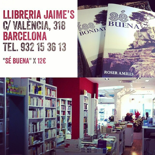 novela se buena de roser amills en la libreria jaimes de barcelona