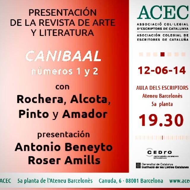 antonio beneyto y roser amills presentan canibaal en barcelona
