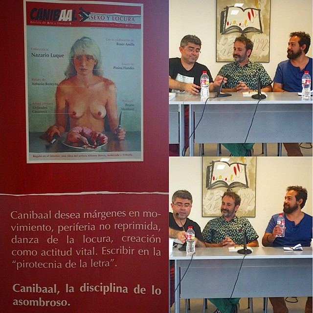 equipo de la revista canibaal presentacion en el ateneu barcelones