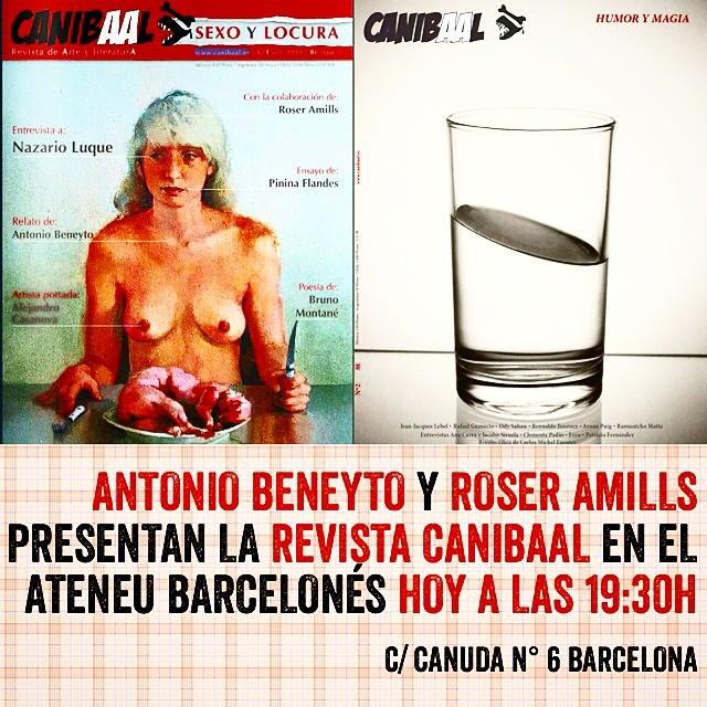 roser amills y antonio beneyto presentan la nueva revista literaria canibaal en barcelona