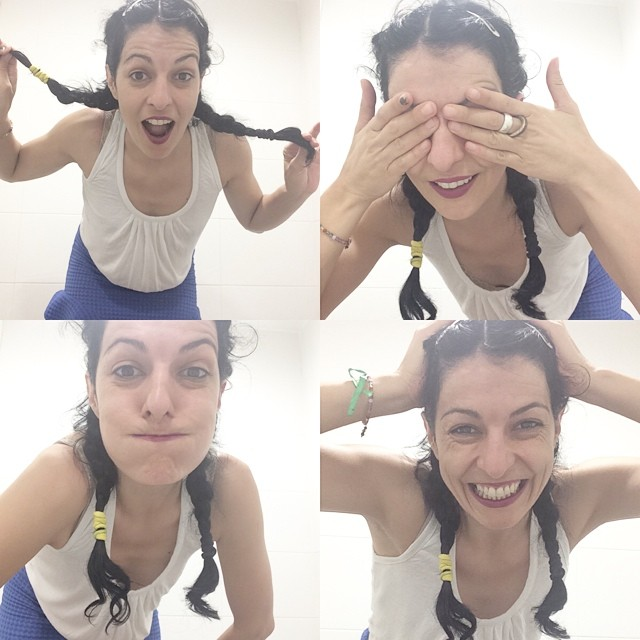 roser amills selfie trenzas divertida
