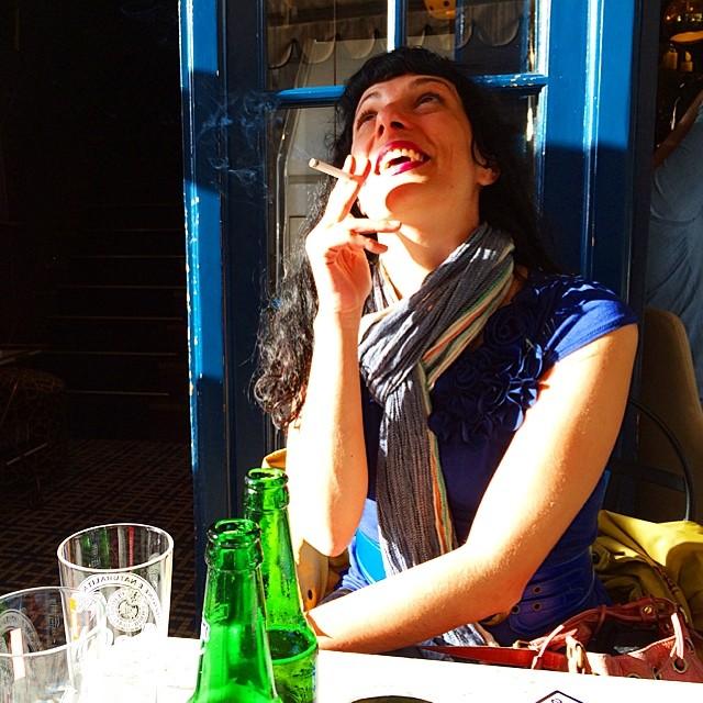 roser amills en el bar pamela foto de victor amela