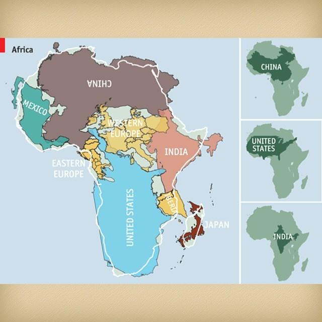 mapa proporcional africa otros paises