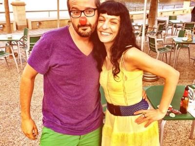 Con @tonimanach, en el encuentro de diseñadores gráficos, autodenominado Woodstock del diseño, en #portbou ;))
