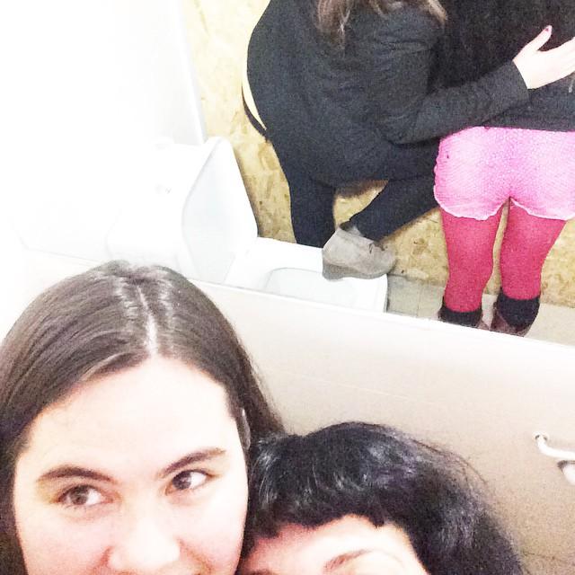 Amb na Joana Abrines hem fet un #amillspublicwc i hi haurà més fotos!!
