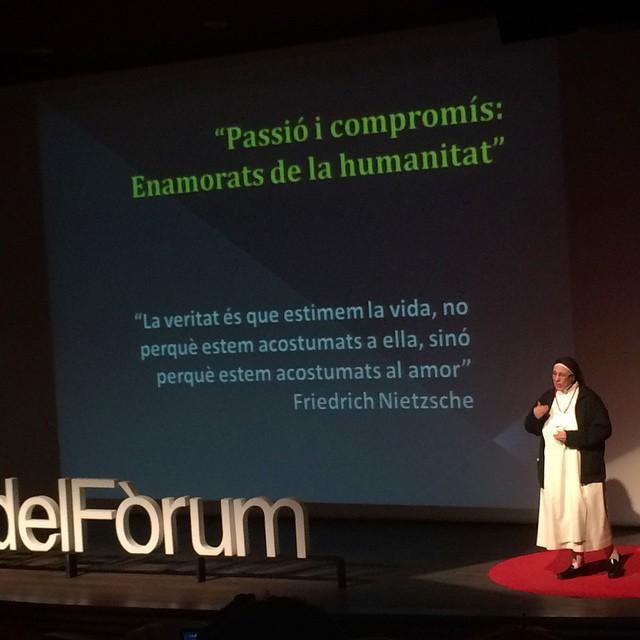 D'entrada, pensareu que no... Però Sor Lucía Caram i jo tenim molt en comú ;)) #TDEx #tedxplacaforum #Tdexpdf