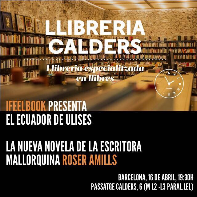 Para vuestras bonitas agendas: tenemos una cita el 16 de abril con #elecuadordeulises ;))