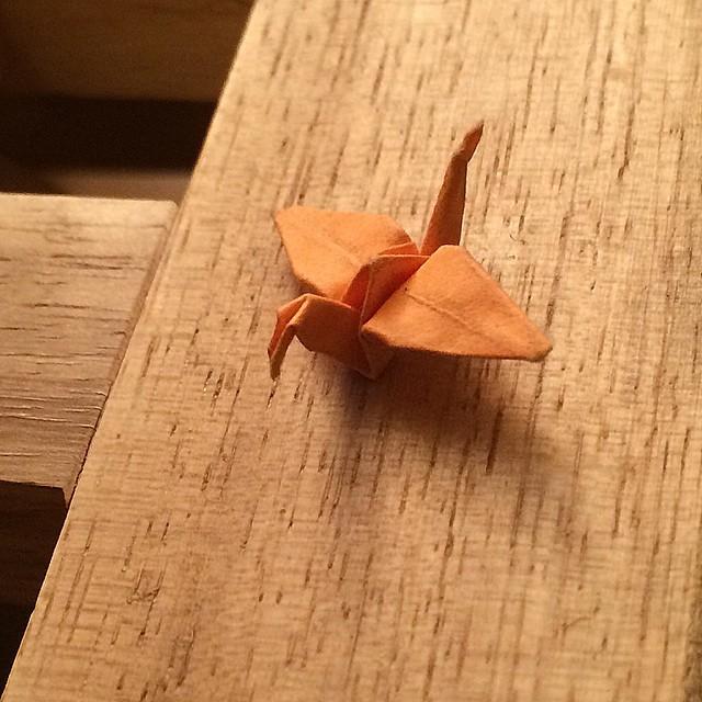 Grulla de 3 mm, regalo de mi chico ;))