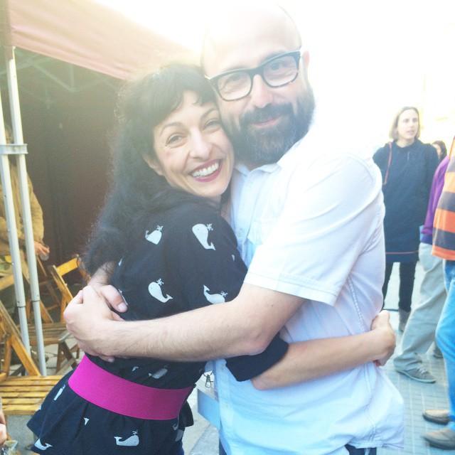 Amb el meu ídol Carles Xuriguera !!! @catalunyaradio ;))