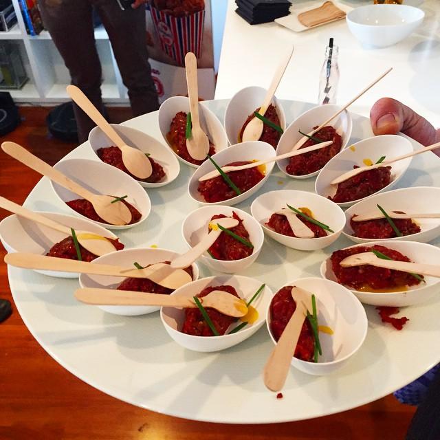 ¿Un poco de tartar de wagyou? :)) #innovacionphilips