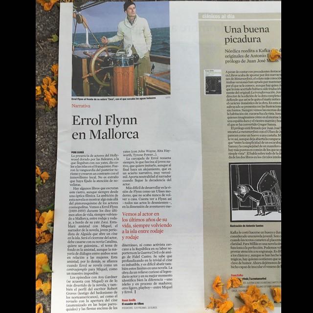 Hoy, en el Culturas de La Vanguardia, #elecuadordeulises #ErrolFlynn :)) Gracias por esta reseña!