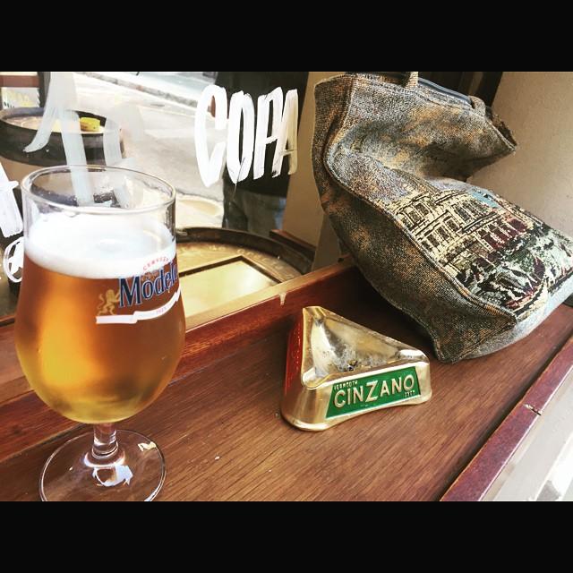 Bolso #souvenir de Venecia (nunca fui) cenicero #cinzano y cerveza #estrellaGalicia Feliz tarde!!
