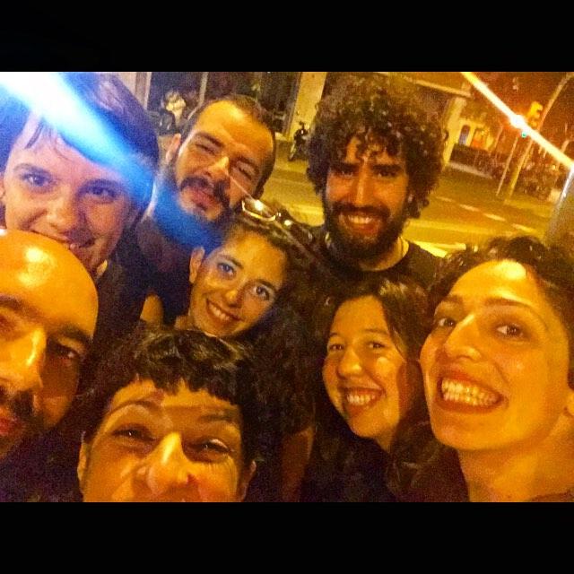 Reunión italiano-brasileña en Gracia :)) con @silviapinaeme