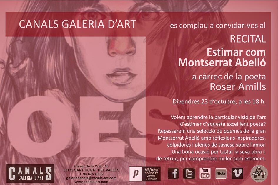 Divendres tenim una cita a #Santcugat #festivaldepoesia 2015 x #montserratabello