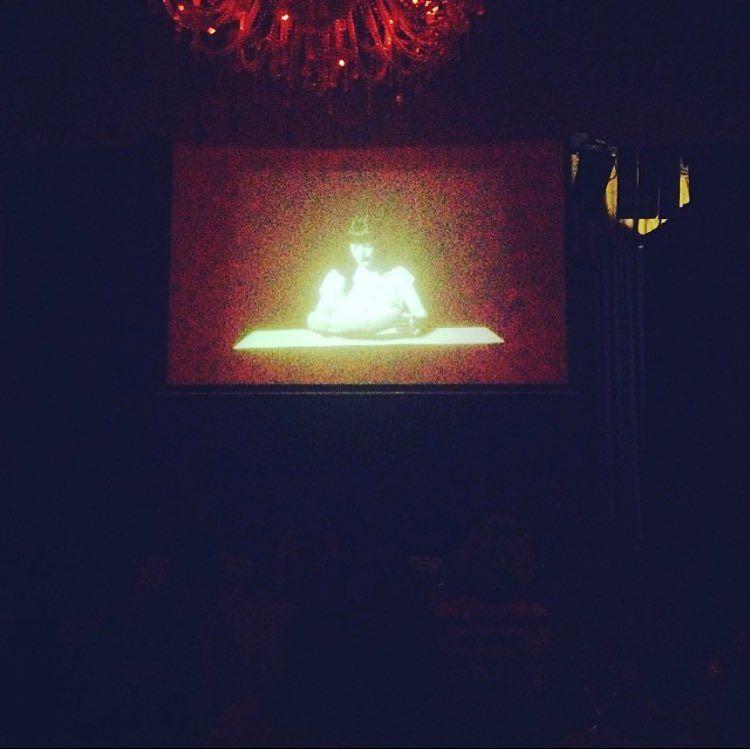 Hace dos años, en una pantalla grande, en Sant Cugat, #elplaerdelalectura