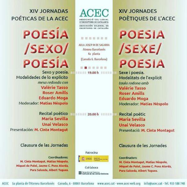 ARA Balears | Sexe i Poesia: la nova recepta de les Jornades Poètiques de l'ACEC