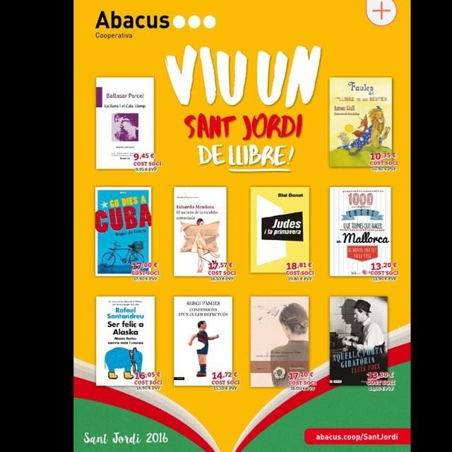 A la coberta de la revista de @abacuscoop recomana Gràcies!!! Mi novela te espera en todas las librerías para llenar tu vida de en Mallorca! @ifbeditors