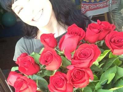 A veces una presume de súper ramo de rosas rojas ;)) #amillsmorning