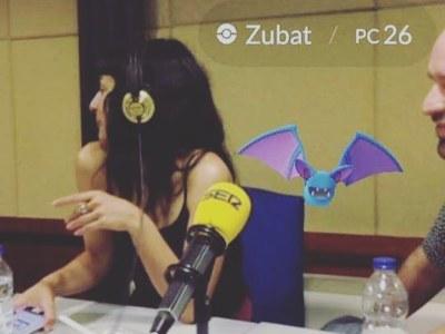 A la ràdio, a @lanit31416, vam estar caçan pokemons amb #pokemongo ;))
