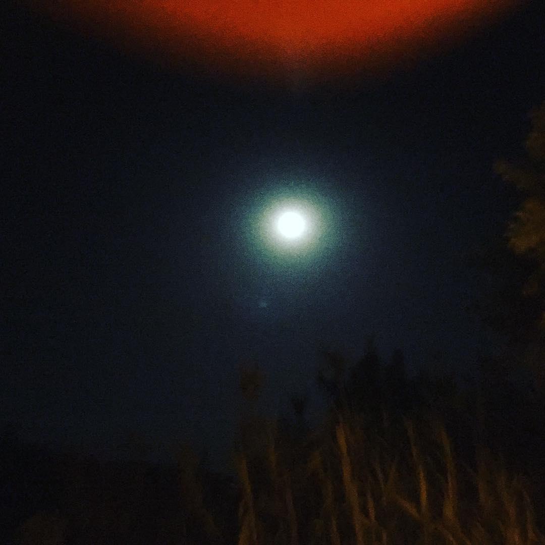 La luna llena sobre Madrid!!