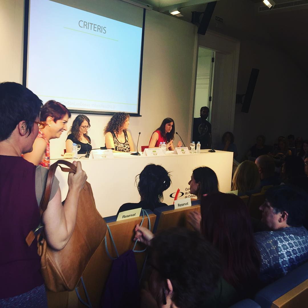 Ara presentem #manifest campanya #OnSonLesDones per uns mitjans de comunicació més plurals #onsónlesdones
