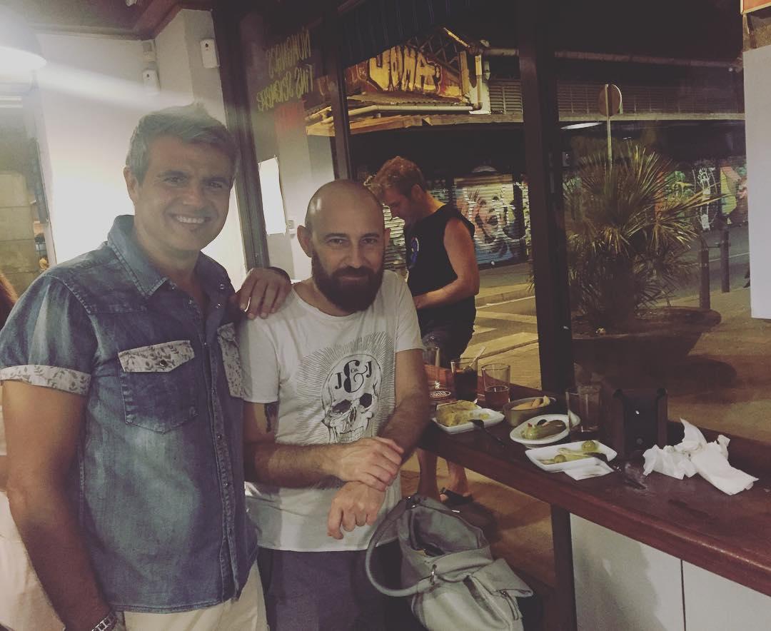 Maurizio, Marco y el Pietro, viva Italia en el #barridegracia ;))