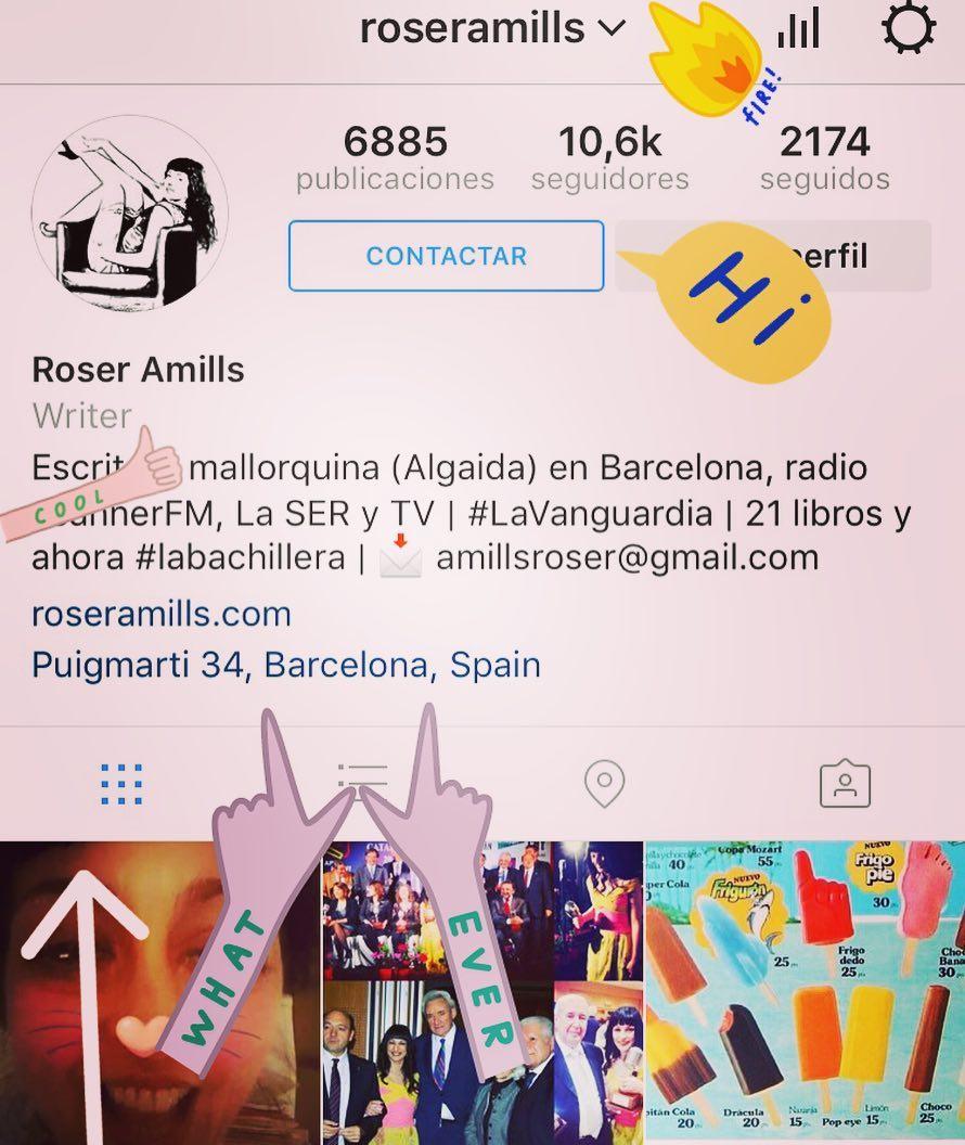 Aquí tienes los detalles de lo que ha cambiado en mi cuenta de #instagram esta tarde: ahora es así ;))