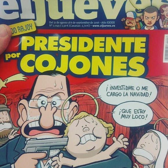 Jajaja #brutal #eljueves #marianorajoy !!!!!