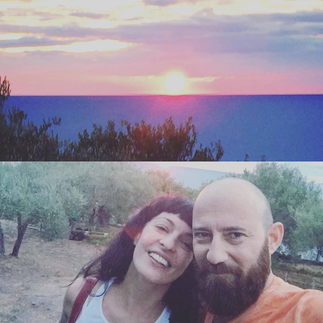 La puesta de sol de hoy ha sido especialmente bonita con @marco_blued