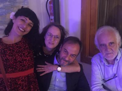 Cuatro poetas: Marta Sanz, Edgardo Dobry, Ramon Andrés ;)) #conversesformentor2016 #veladaorfica