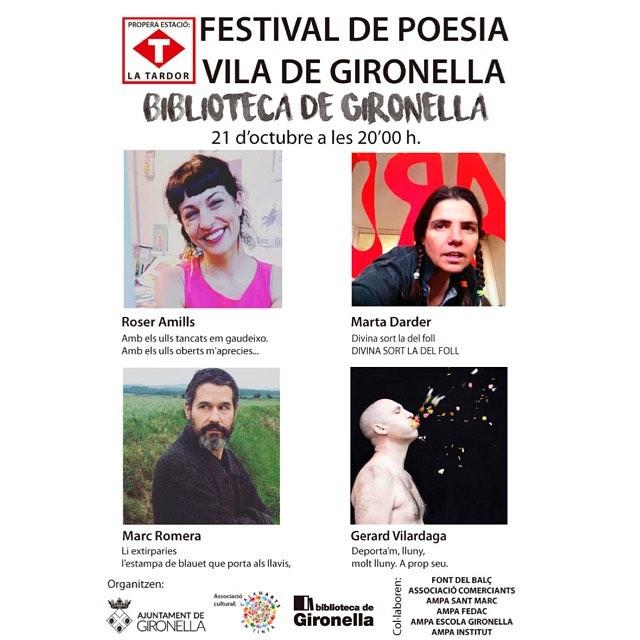 Ens veurem a #Gironella? #festivaldepoesiaviladegironella 2016 :))