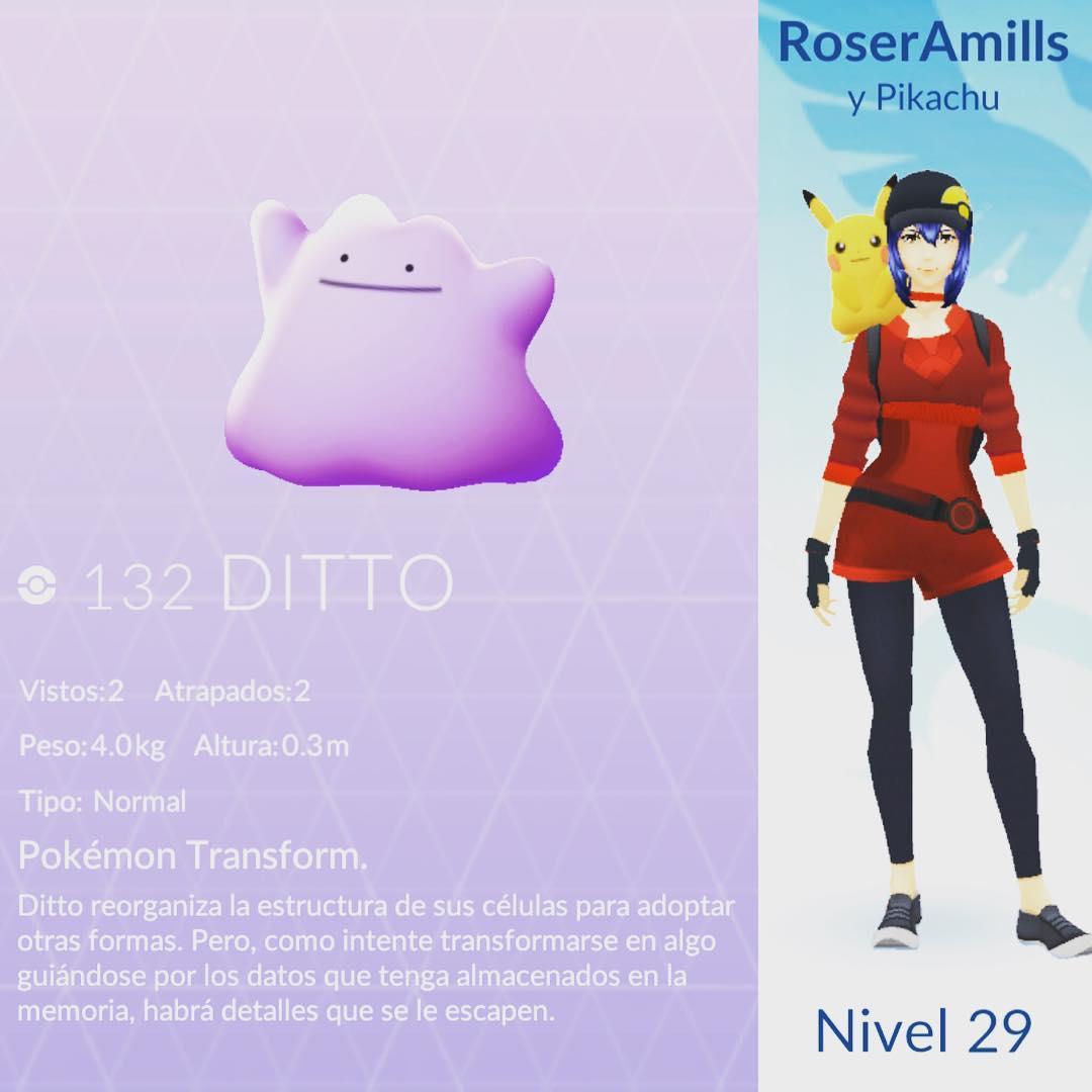 Ah, por cierto, esta tarde he encontrado la novedad de #pokemongo, se llama #ditto :))