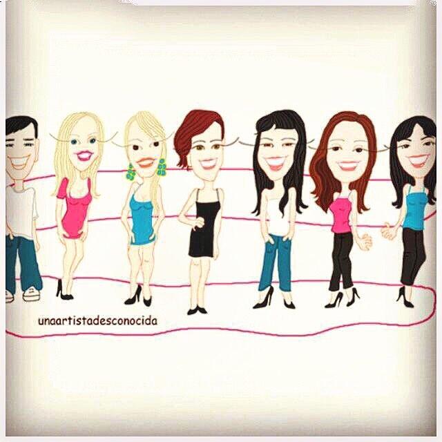 Os gusta esta ilustración de @unaartistadesconocida ? Yo soy la del centro con tejanitos :)) #gracias