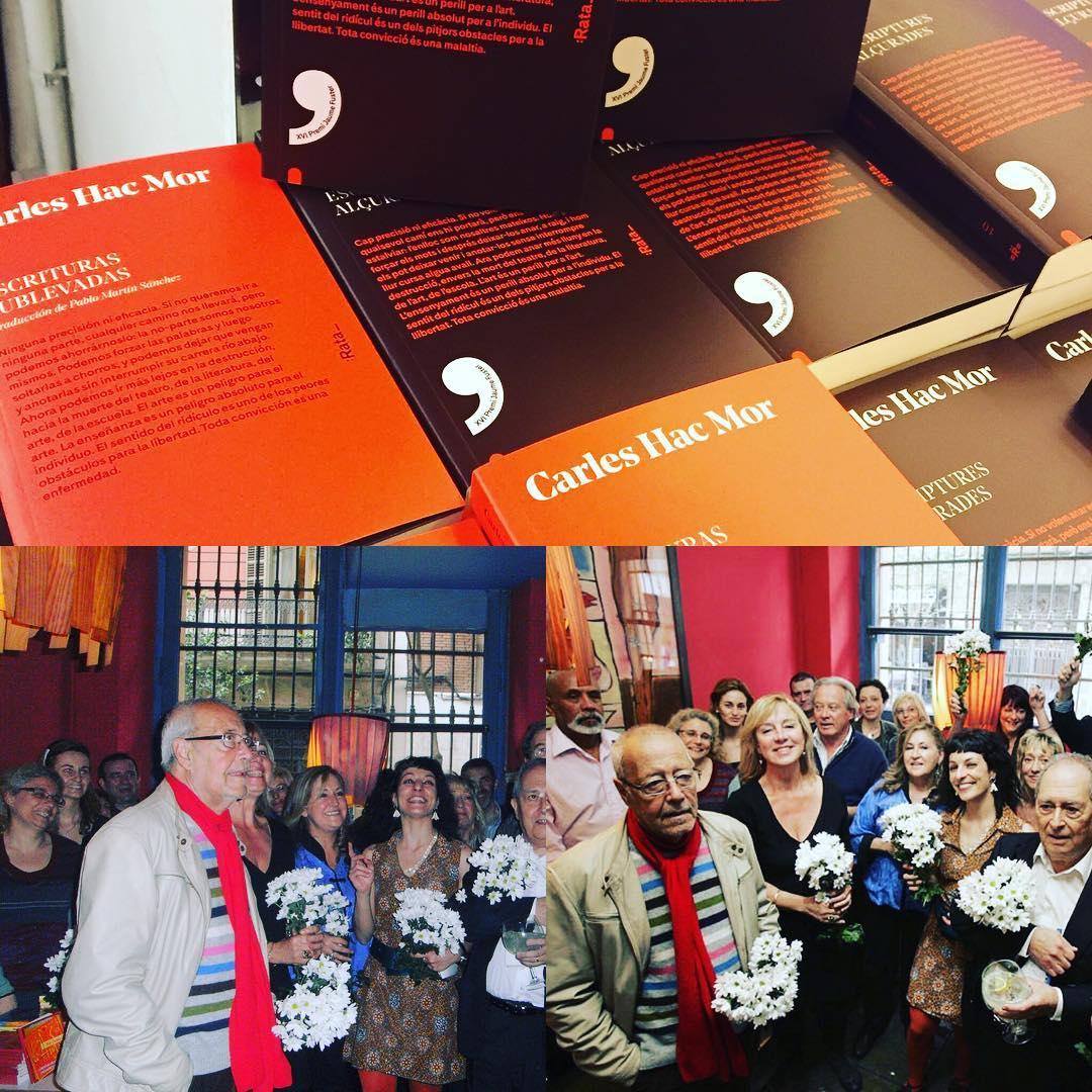 Hoy recordamos a #carleshacmor en la Calders con libro de @rata_books