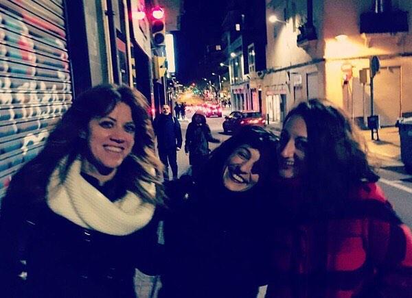 Con Vanessa Hogarth y Elena Capel #nochesdecienciaficcion [foto de Marc Alberola ]