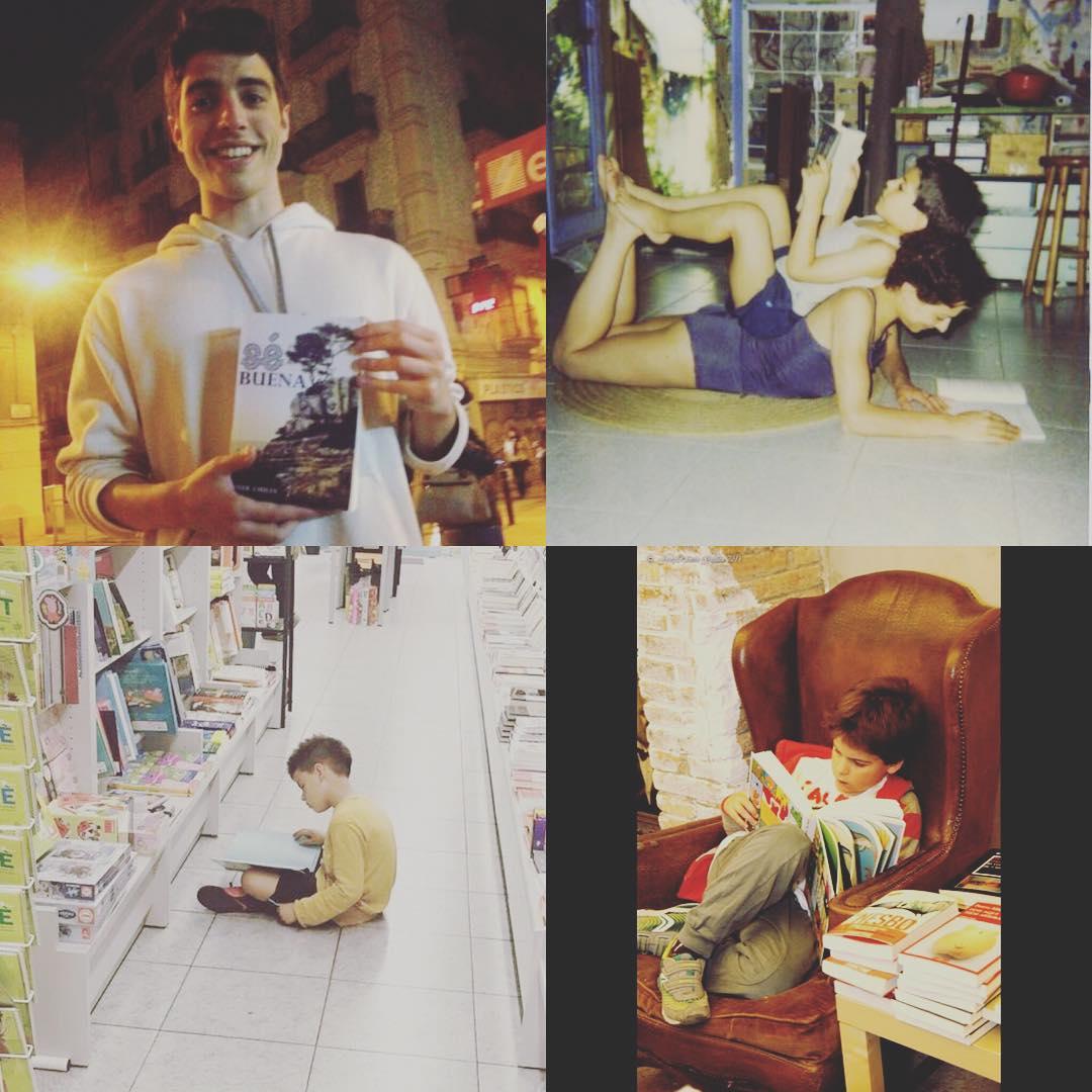 Os doy las buenas noches orgullosa de mis #hijosqueleen :)) Arriba, fotos de Marcel y abajo, de Juan #bonanit