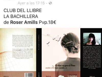 Me hace mucha ilusión que la librería de referencia de #elpratdellobregat recomiende #labachillera ;))