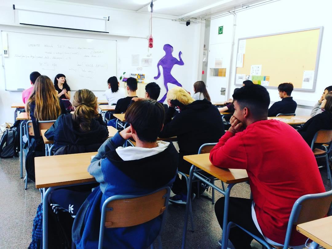 Bonito dar una charla hoy sobre autoestima y verdadera #libertadsexual a los alumnos de 4° de ESO de Rubí