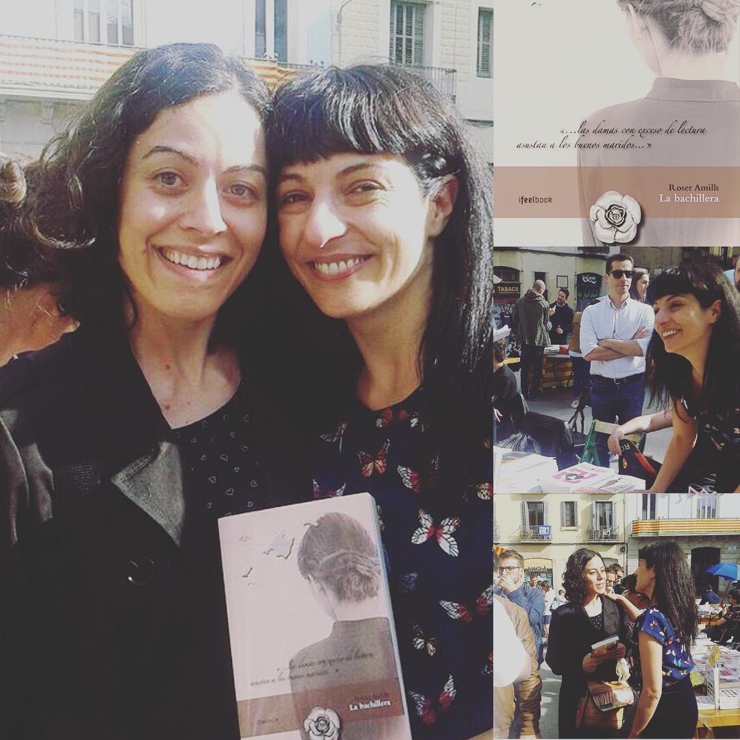 Feliz con estas fotos con @albaturme, es maravilloso conocer a los lectores, a ella más!! Gracias por leer #labachillera