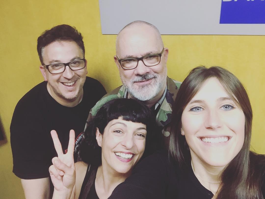 He visitado a tres grandes y hemos hablado de #series, el sábado en la radio ;)) @merce.torrens @gonzalodemartorell i #xavimarin
