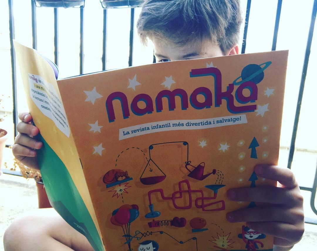 El meu fill gaudeix molt el 1er número de @RevistaNamaka, nova revista infantil de qualitat🌞 #divertida #salvatge #educativa