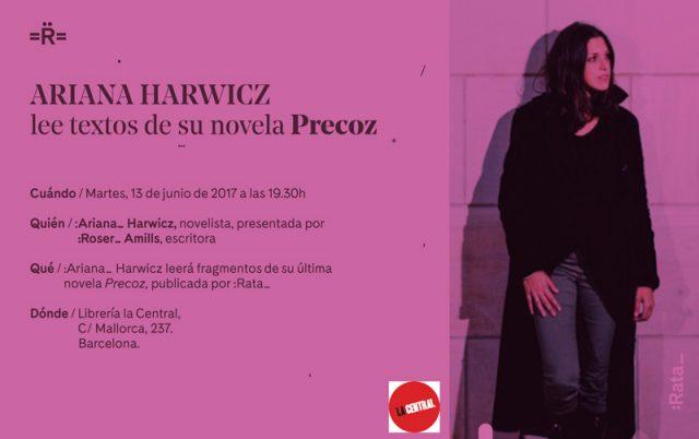 PRECOZ-LACENTRAL-2017 ariana harwicz y roser amills