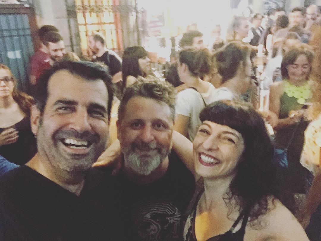 Con @bancodepruebas y @fernando_mad_crow en las #festesdegracia