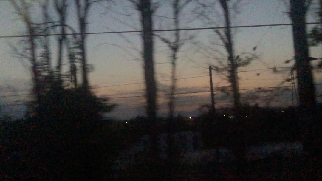 El tren, qué placer! Feliz noche #almasbonitas