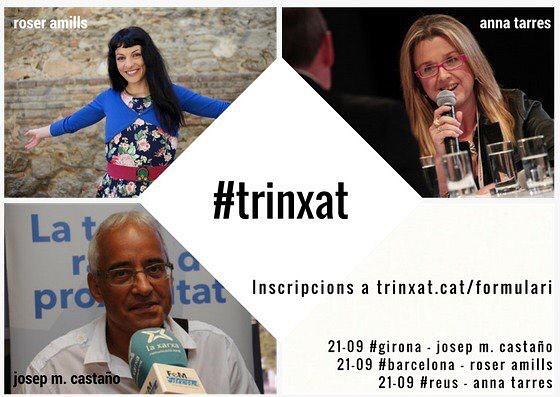Sopem junts? DIJOUS 21.09 comença la nova temporada de #trinxat Enguany a Reus, Barcelona i Girona Inscripció:trinxat.cat/