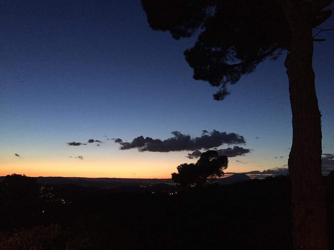 Sin filtros, la puesta de sol de hoy