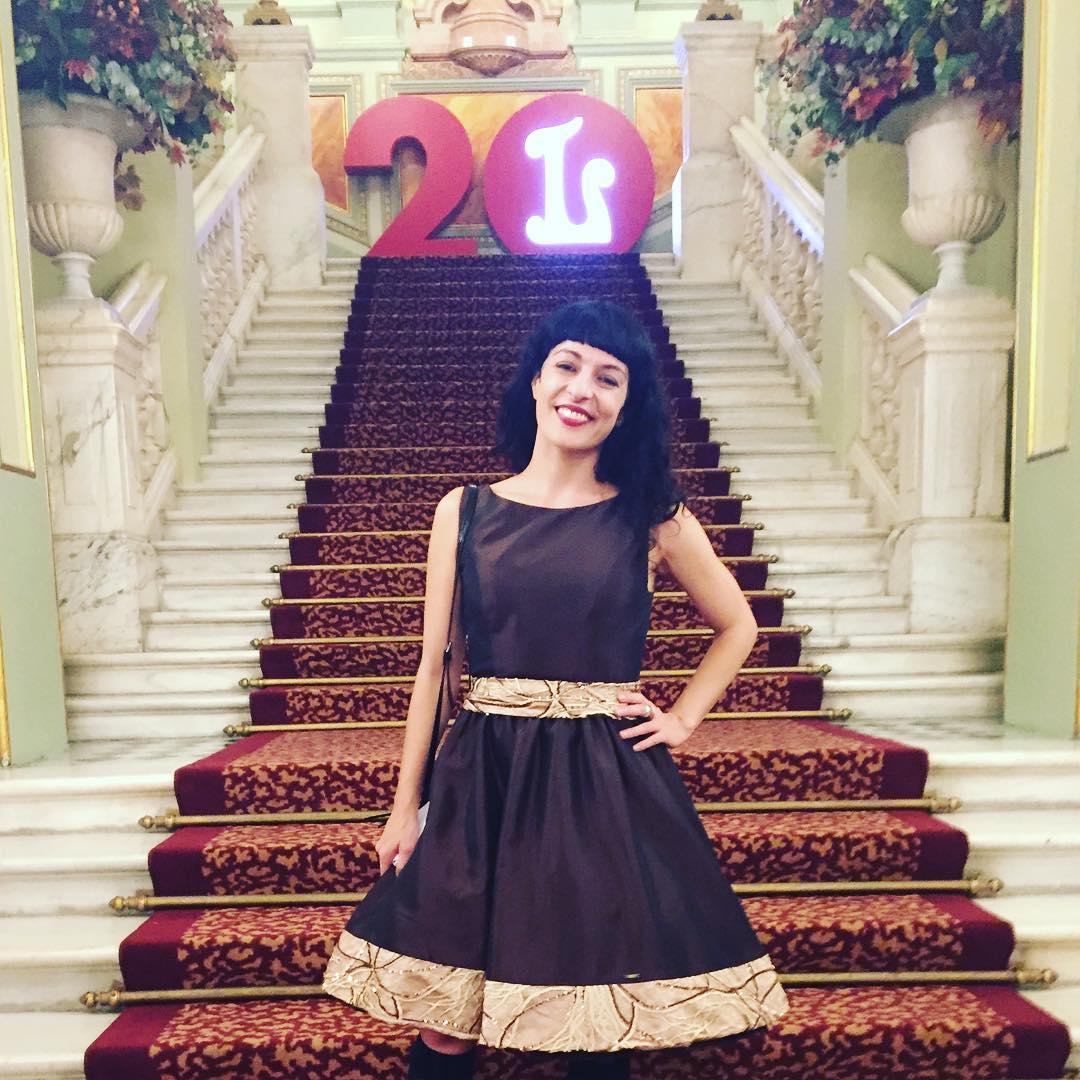 Me encanta celebrar mi #onomastica en el Liceu y vestir @ottovanrhuskbcn