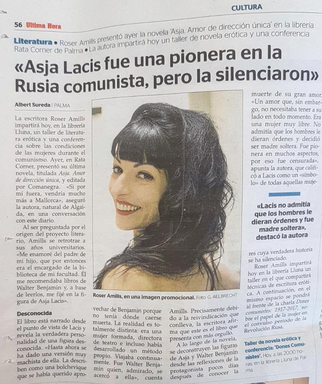 roser amills entrevista #asjalacis merece vuestra atención: no fue sólo la amante de #walterbenjamin