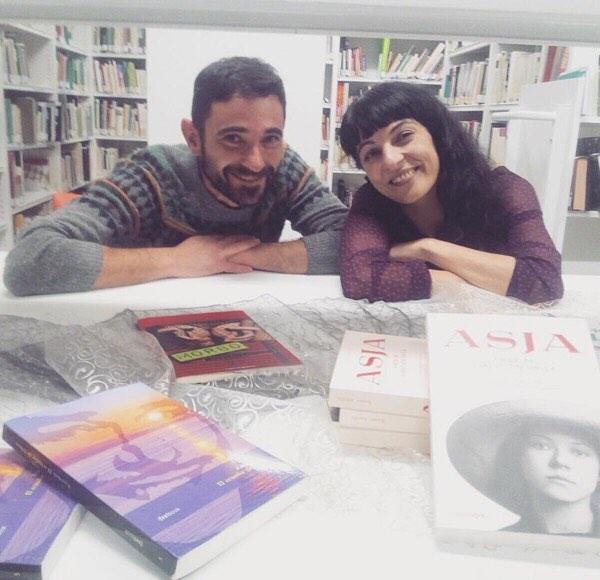 Roser Amills en #bibliovalde con #asjalacis #valderrobres #matarranya
